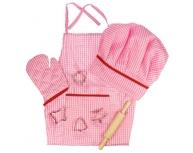 Set bucătar roz
