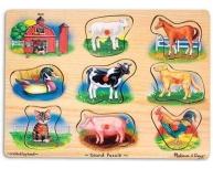 Puzzle sonor clasic Animale de la fermă