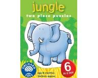Set 6 puzzle Animale din junglă