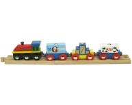 Trenuleţ cu şină şi magneţi