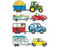 Set 4 puzzle maşină+remorcă