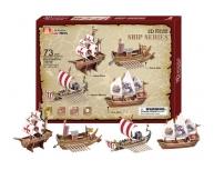Set 4 corăbii 3D