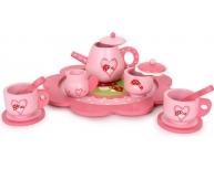 Set ceai roz din lemn