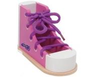 Pantof cu şiret roz
