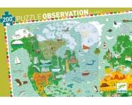 Puzzle observaţie harta lumii