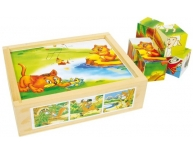 Set 6 puzzle animale cuburi