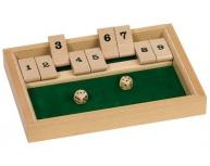 """Joc cu zaruri """"Shut the box"""""""