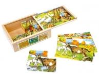 Puzzle cuburi Viaţa la ţară