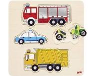 Puzzle mijloace de transport 10 piese