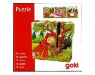 Puzzle 9 cuburi lemn