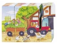 """Puzzle cuburi """"Anotimpuri la fermă"""""""
