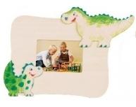 Ramă foto de colorat dinozauri