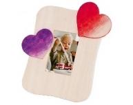 Ramă foto de colorat inimi