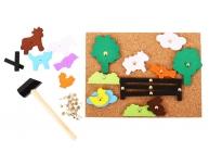 Joc cu pioneze şi ciocănel fermă