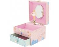 Cutie muzicală balerină cu sertar lotus