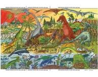 Puzzle podea dinozauri