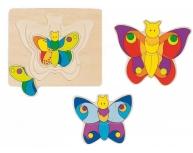 Puzzle fluture pe straturi