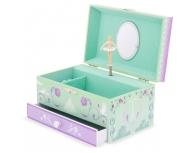 Cutie muzicală cu sertar Paris lila