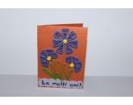 Felicitare buchet flori