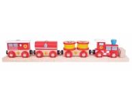Trenuleţ cu şină şi magneţi pompieri
