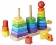 Joc îndemânare 3 piramide forme
