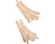 Set 2 şine lemn bifurcaţie