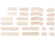 Set 24 şine lemn
