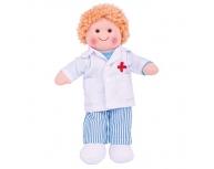Păpuşă pluş băiat Doctor Tommy