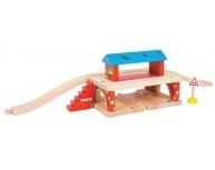 Staţie subterană maşini şi tren