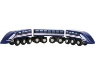 Tren cu magnet albastru