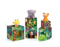Set cuburi animale junglă