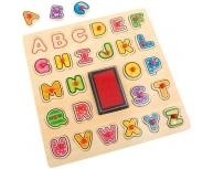 Puzzle alfabet cu ştampile