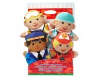 Set 4 marionete mână meserii