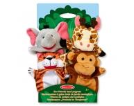 Set 4 marionete mână zoo