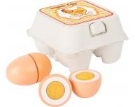 Set 4 ouă lemn