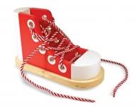 Pantof cu şiret roşu