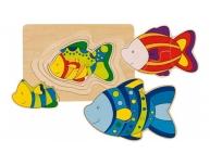Puzzle pe straturi peşte