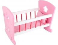 Pătuţ păpuşi balansoar roz