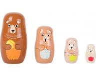 Set 4 Matrioska lemn ursuleţi