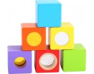 Set 6 cuburi senzoriale lemn