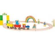 Circuit tren Sesame, 27 piese