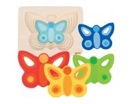 Puzzle straturi fluture