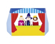 Teatru de păpuşi carton, 3 marionete incluse