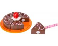 Tort cu ciocolată cu arici, lemn