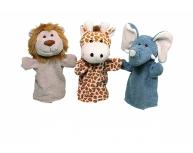 Set 3 marionete pentru palmă animale 25-28 cm