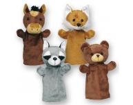 Set 4 marionete pentru palmă 28-30 cm
