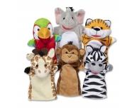 Set 6 marionete palmă Safari