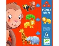 Puzzle podea progresiv animale sălbatice