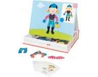 Carte magnetică îmbracă fetiţa, 43 piese