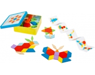 Joc tangram, 52 piese, lemn